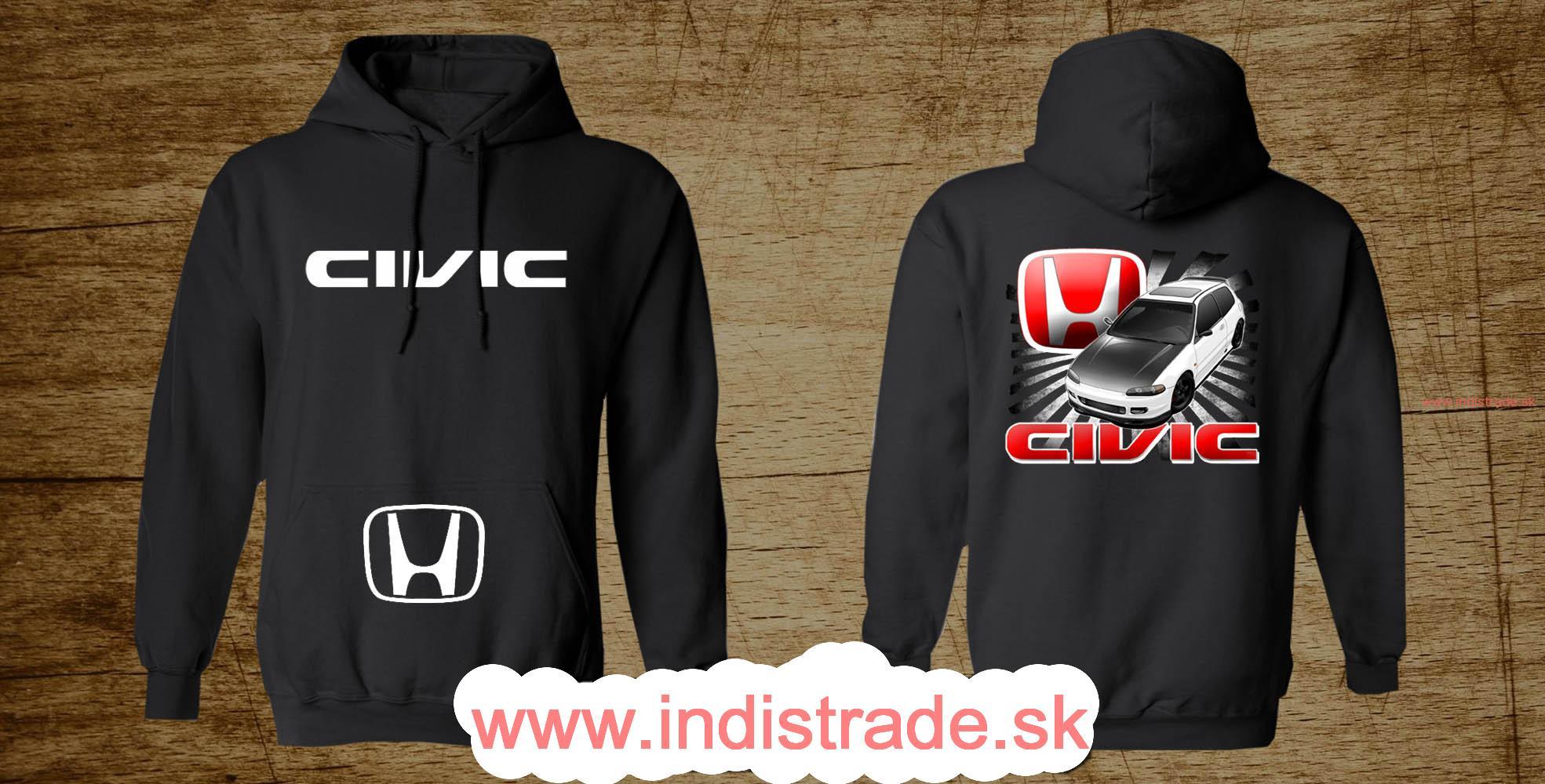 Mikina s kapucnou Honda Civic cf49630058b